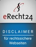 erecht24 siegel disclaimer blau - Disclaimer